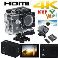 4K Ultra HD 1080P 2.0'' 16MP WIFI Sports Action Camera Car DV Video DVR Cam