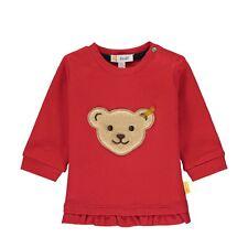 Steiff Baby Sweatshirt mit teddy Applikation und Rüschen rot Größen 62-86