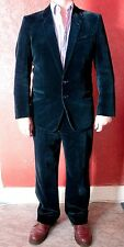"Cecil Gee midnight blue Velvet Suit 40"" excellent condition."