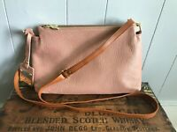 Valentina Pink Pebbled Leather Handbag Purse Shoulder Crossbody Messenger Bag