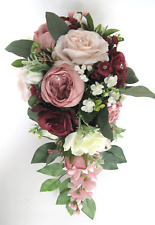 1 piece Wedding Bouquet set Bridal Bouquet package BLUSH MAUVE Pink BURGUNDY