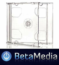 100 x Double Jewel CD Cases with Clear Tray - Standard Size CD case