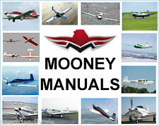 Mooney M20J 201 SERVICE MANUAL Maintenance Parts Catalog POH & ENGINE MANUALS CD
