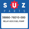 38860-76D10-000 Suzuki Relay assy,fuel pump 3886076D10000, New Genuine OEM Part
