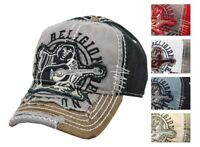 New True Religion Men's Vintage Distressed Big Buddha Trucker Hat Cap TR1101