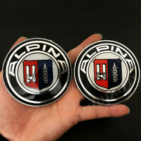 Size 60 MM 4x BMW Alpina Round Logo 3D Curved Sticker