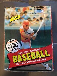 1980 TOPPS WAX BOX, 28 ORIGINAL UNOPENED PACKS, HENDERSON? Baseball Cards