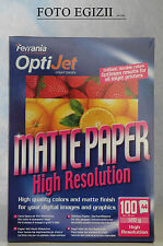 FERRANIA OPTIJET MATTE PAPER professional inkjet photo range 100 fogli A4 120g