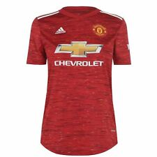 adidas Manchester United Home Shirt 2020 2021 Ladies Domestic Stamp Jersey
