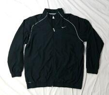 NIKE Golf Dri-Fit Mens Black Full Zip Light-Weight Athletic Golf Jacket X-Large