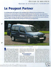 Fourgonnette Peugeot Partner Gendarmerie Brigade Cynophile FICHE POLICE