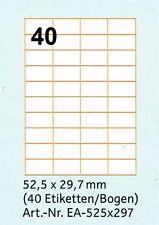 Top Stick Universal-etiketten 52 5 X 29 7 Mm 100 Blatt
