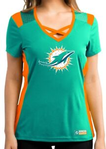 """Miami Dolphins Women's Majestic NFL """"Draft Me 2"""" Jersey Top Shirt"""
