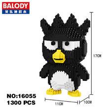 Balody Grey Bad Badtz-Maru Penguin Animal Diamond Mini Building Nano Block Toy