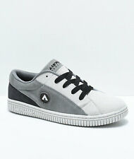 AIRWALK (THE ONE TRI) SUEDE SKATE SHOES GREY CHARCOAL MENS