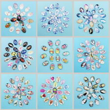 50PCS Oval Glass Dome Cabochon Flatback Cameo Jewelry Crafts Beads 13×18-30×40MM