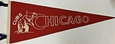 VINTAGE 1940'S CHICAGO CUBS PENNANT RED