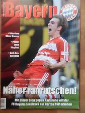 + BAYERN MAGAZIN 12/60 - 21.3. 2009 Philipp Lahm Karlsruher SC Oliver Kreuzer