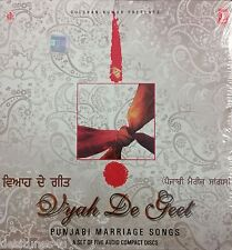 VYAH DE GEET - PUNJABI MARRIAGE SONGS - 5 DISC WEDDING CD SET - FREE POST