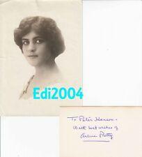 ARLINE PRETTY Vintage Original RARE 1915 Photo & Signed AUTOGRAPH CARD
