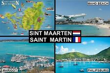 SOUVENIR FRIDGE MAGNET of SINT MAARTEN / SAINT MARTIN