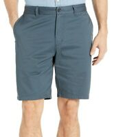 Quiksilver Mens Shorts Ocean Blue US Size 40 Mid-Rise Flat-Front Chinos $65- 249