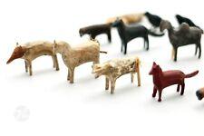 Altes Spielzeug Holzspielzeug Erzgebirge Holztiere Tiere Antik Miniaturen 35x