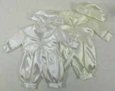 Baby Boys Romper Suit 3 Piece Set Hat Waistcoat Cream White Christening Wedding