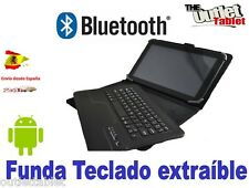 "Funda con Teclado Bluetooth para Tablet 10.1"" universal keyboard QWERTY español"