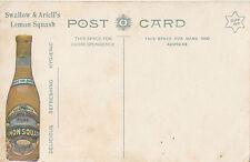 Postcard Swallow & Ariell's lemon squash Australia advertising bark humpy view