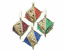 Pinflair Sequin & Pin Christmas Craft Kit - 4 GEMSTONE Cube Bauble Ornaments