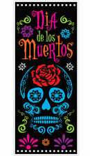 HALLOWEEN DAY OF THE DEAD DOOR COVER PARTY DECORATION MEXICAN FIESTA SUGAR SKULL