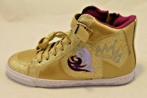 Disney D-Signed Girls Descendants Royalty Gold Princess Sneaker Youth 5 New