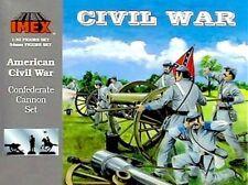 IMEX 780 1/32 CIVIL WAR CONFEDRATE ARTILLERY 1 CANNON W 3 CREW FIGURES FREE SHIP