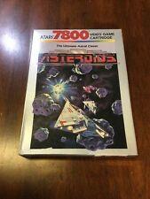 Original Atari 7800 Video Game Cartridge Asteroid (COMPLETE)