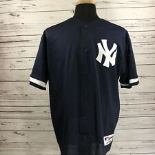 New York Yankees Batting Practice Jersey Vintage Majestic Authentic XL Navy