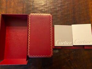 Vintage Les Must De Cartier Mens Watch Presentation Box + Original Booklets LRG!
