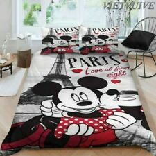 Mickey Mouse Bedding Set Thanksgiving Christmas New Year Gift 3 Pcs