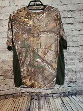 Habit Men's Shirt Realtree Camo Size Medium Scent Factor Hunting Fishing t12