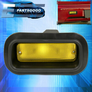 Custom Rear Bumper Fog Light Lamp Driving Replacement Safety Lamp Yellow Lens