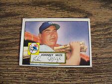 1952 TOPPS BASEBALL JOHNNY MIZE CARD # 129 VG CONDITION