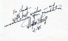 STEPHEN KING: 1985 Autograph from Legendary Novelist