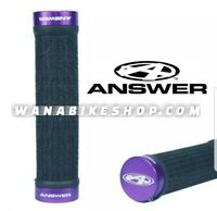 Answer Bmx Lock-On Grips 105mm Black/Purple