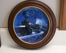 Great Northern Empire Builder Knowles Collector Plate Pierce Mint w/Frame Gnry