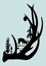 Schablone** Wald, Hirsch **für Stoffe, Möbel,Torten,Wände, usw. ** Nr.: 1161