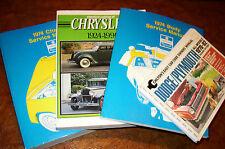 1974 Chrysler Imperial Lebaron Newport New Yorker Service Repair Shop Manual Set