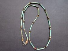 NILE  Ancient Egyptian Faience Mummy Bead Necklace ca 1000 BC