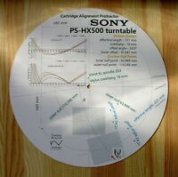 Sony PS-HX500 Turntable Tonearm Cartridge Stylus Alignment Protractor