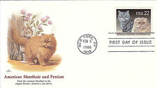 Us Fdc Sc # 2375 American Shorthair and Persian with Fleetwood cachet - Us 8243