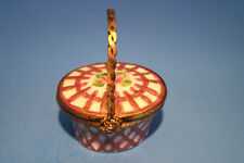 Basket,Rose, authentic French Limoges Box ( New )